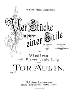 Four Pieces in the Form of Suites for Violin and Piano, Op.15: No.3 Aria by Tor Aulin