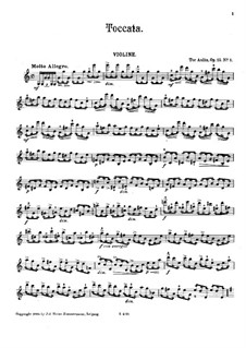 Four Pieces in the Form of Suites for Violin and Piano, Op.15: No.1, 2, 4 – violin part by Tor Aulin