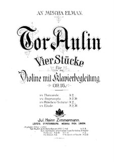 Four Pieces for Violin and Piano, Op.16: No.1 Barcarole by Tor Aulin