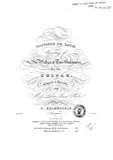 Souvenir de Bath. Six Waltzes and Two Galopades: Souvenir de Bath. Six Waltzes and Two Galopades by Charles Eulenstein