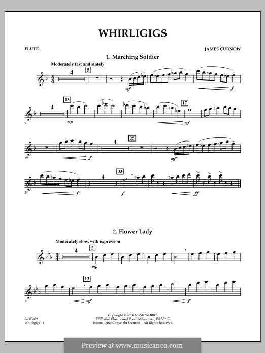 Whirligigs: Flute part by James Curnow