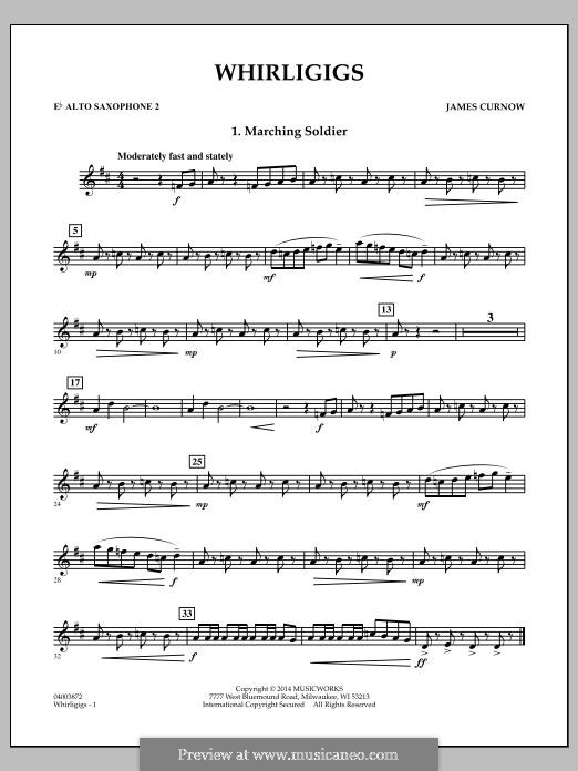 Whirligigs: Eb Alto Saxophone 2 part by James Curnow