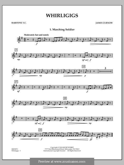 Whirligigs: Baritone T.C. part by James Curnow
