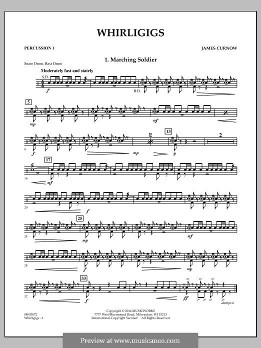 Whirligigs: Percussion 1 part by James Curnow
