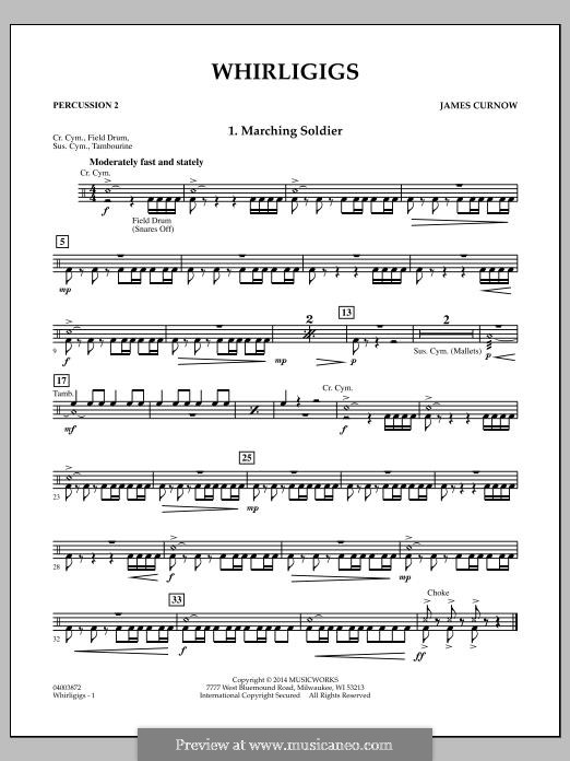 Whirligigs: Percussion 2 part by James Curnow