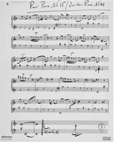 Piece for Piano No.15: Piece for Piano No.15 by Ernst Levy