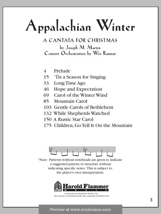 Appalachian Winter (A Cantata for Christmas): Score by Joseph M. Martin