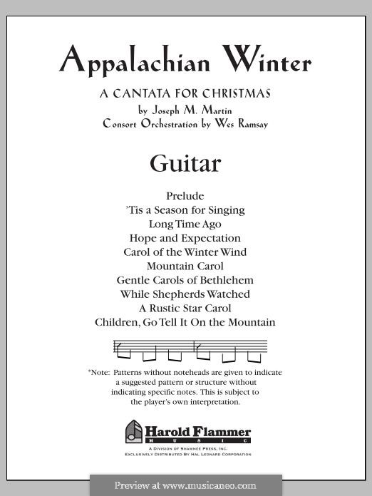 Appalachian Winter (A Cantata for Christmas): Guitar part by Joseph M. Martin