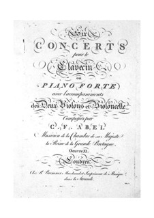 Six Concertos for Strings and Keyboard, Op.11: Violin I part by Carl Friedrich Abel