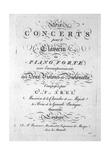 Six Concertos for Strings and Keyboard, Op.11: Violin II part by Carl Friedrich Abel