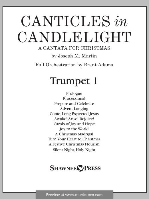 Canticles in Candlelight: Bb Trumpet 1 part by Joseph M. Martin
