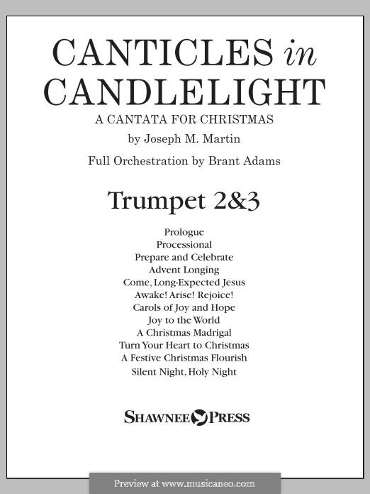 Canticles in Candlelight: Bb Trumpet 2,3 part by Joseph M. Martin