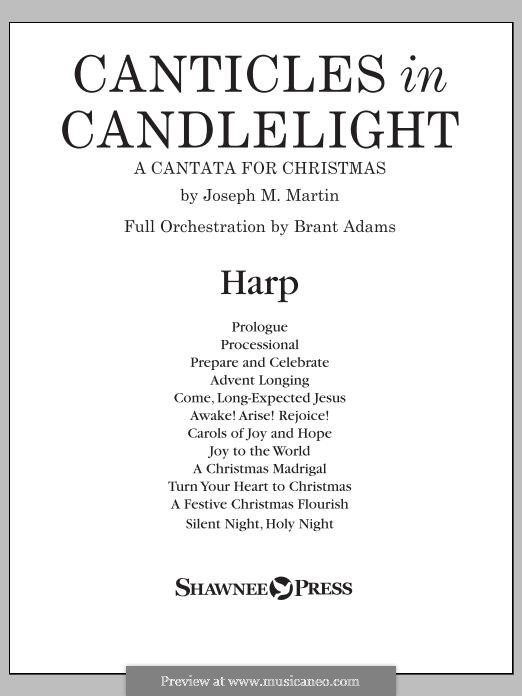 Canticles in Candlelight: Harp part by Joseph M. Martin