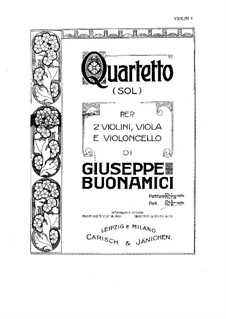 String Quartet in G Major: String Quartet in G Major by Giuseppe Buonamici