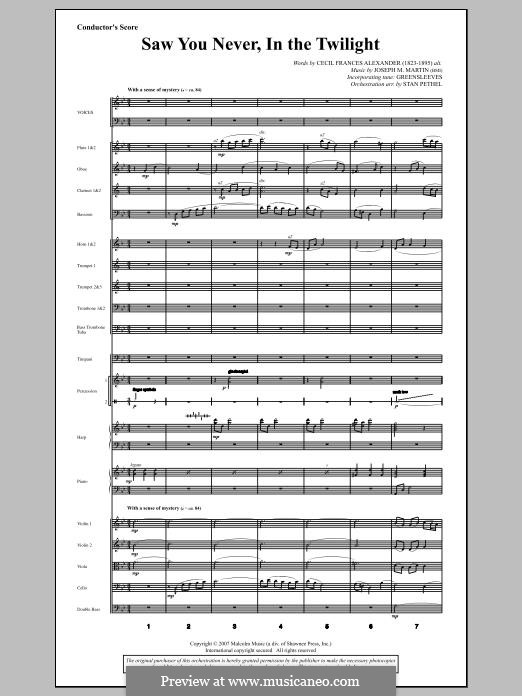 Saw You Never, In The Twilight (from Season of Wonders): Score by Joseph M. Martin