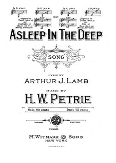 Asleep in the Deep: B Flat Major by Henry W. Petrie