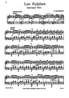 Les sylphes. Impromptu-Waltz: Les sylphes. Impromptu-Waltz by Georges Bachmann