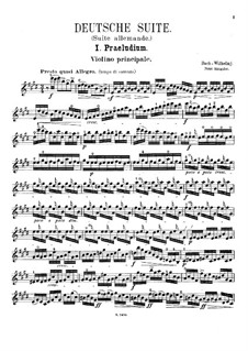 Partita for Violin No.3 in E Major, BWV 1006: Arrangement for violin and piano – solo part by Johann Sebastian Bach