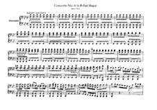 Brandenburg Concerto No.6 in B Flat Major, BWV 1051: Arrangement for piano four hands – parts by Johann Sebastian Bach