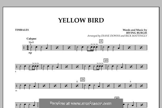 Yellow Bird: Timbales part by Irving Burgie