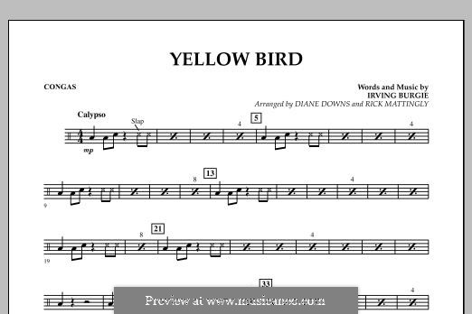 Yellow Bird: Congas part by Irving Burgie