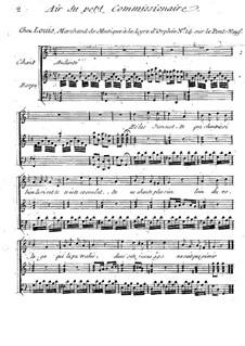 Claudine, ou Le Petit Commissionnaire: Air du petit Commissionaire, for voice and harp by Antonio Bartolomeo Bruni