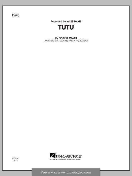 Tutu: Piano part by Marcus Miller