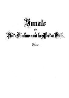 Sonata for Flute, Violin and Harpsichord in G Major, BWV 1038: Full score by Johann Sebastian Bach