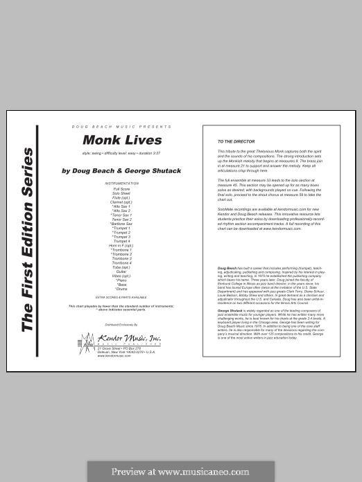 Monk Lives: Full Score by Doug Beach, George Shutack