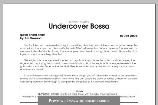Undercover Bossa: Guitar part by Jeff Jarvis