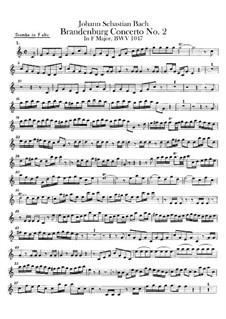 Brandenburg Concerto No.2 in F Major, BWV 1047: Trumpet part by Johann Sebastian Bach