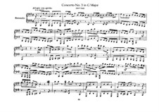 Brandenburg Concerto No.3 in G Major, BWV 1048: Arrangement for piano four hands – parts by Johann Sebastian Bach