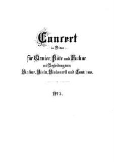 Brandenburg Concerto No.5 in D Major, BWV 1050: Full score by Johann Sebastian Bach