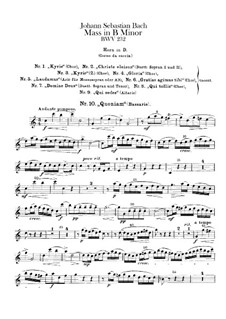 Complete Mass: French Horn part by Johann Sebastian Bach