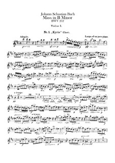 Complete Mass: Violin I part by Johann Sebastian Bach