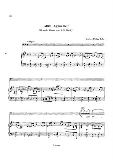 Agnus Dei: For cello and piano by Johann Sebastian Bach