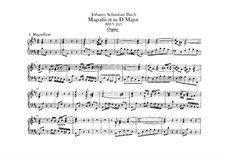 Magnificat in D Major, BWV 243: Organ part by Johann Sebastian Bach