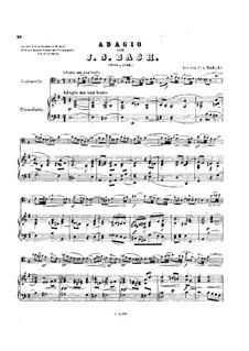 Sonata for Violin and Basso Continuo in E Minor, BWV 1023: Adagio. Arrangement for cello and piano by Johann Sebastian Bach