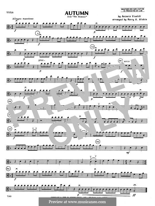 Violin Concerto No.3 in F Major 'L'autunno', RV 293: Viola part by Antonio Vivaldi