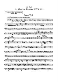 Complete Oratorio: Orchestra II, Cello and Double Bass Part by Johann Sebastian Bach