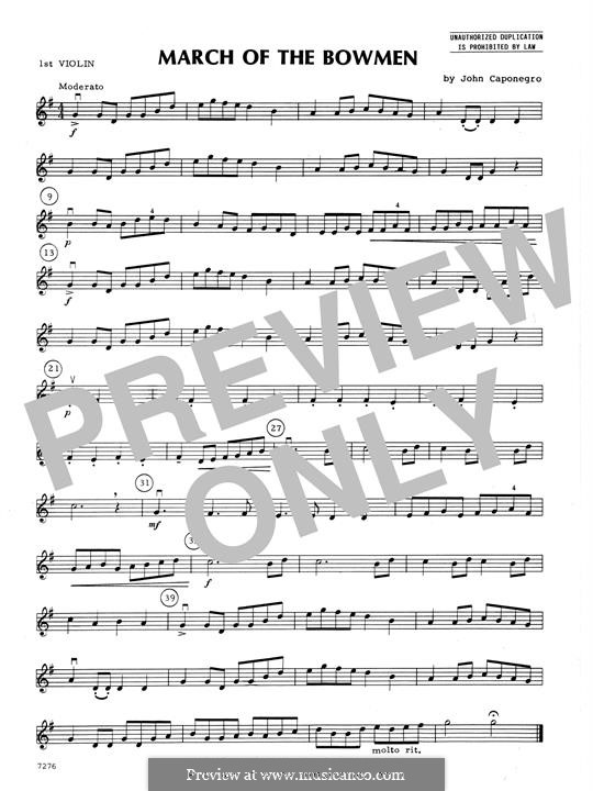 March of The Bowmen: 1st Violin part by John Caponegro