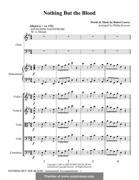 Nothing But the Blood: Score by Robert Lowry