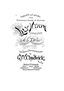 The Lily Nymph: Piano-vocal score by George Whitefield Chadwick