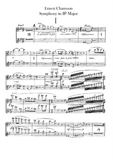 Symphony in B Flat Major, Op.20: Flutes parts by Ernest Chausson