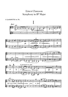 Symphony in B Flat Major, Op.20: Clarinets parts by Ernest Chausson