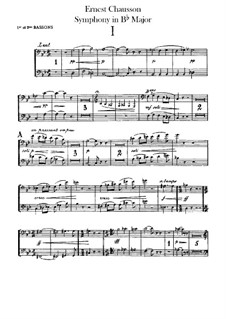 Symphony in B Flat Major, Op.20: Bassoons parts by Ernest Chausson
