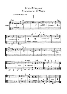 Symphony in B Flat Major, Op.20: Trumpets parts by Ernest Chausson