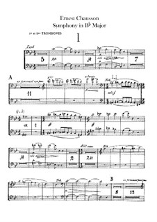 Symphony in B Flat Major, Op.20: Trombones and tuba parts by Ernest Chausson
