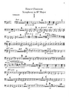 Symphony in B Flat Major, Op.20: Timpani part by Ernest Chausson