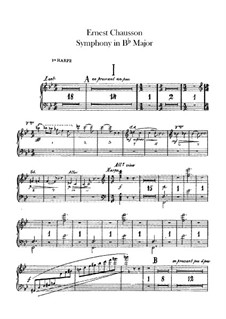 Symphony in B Flat Major, Op.20: Harps parts by Ernest Chausson